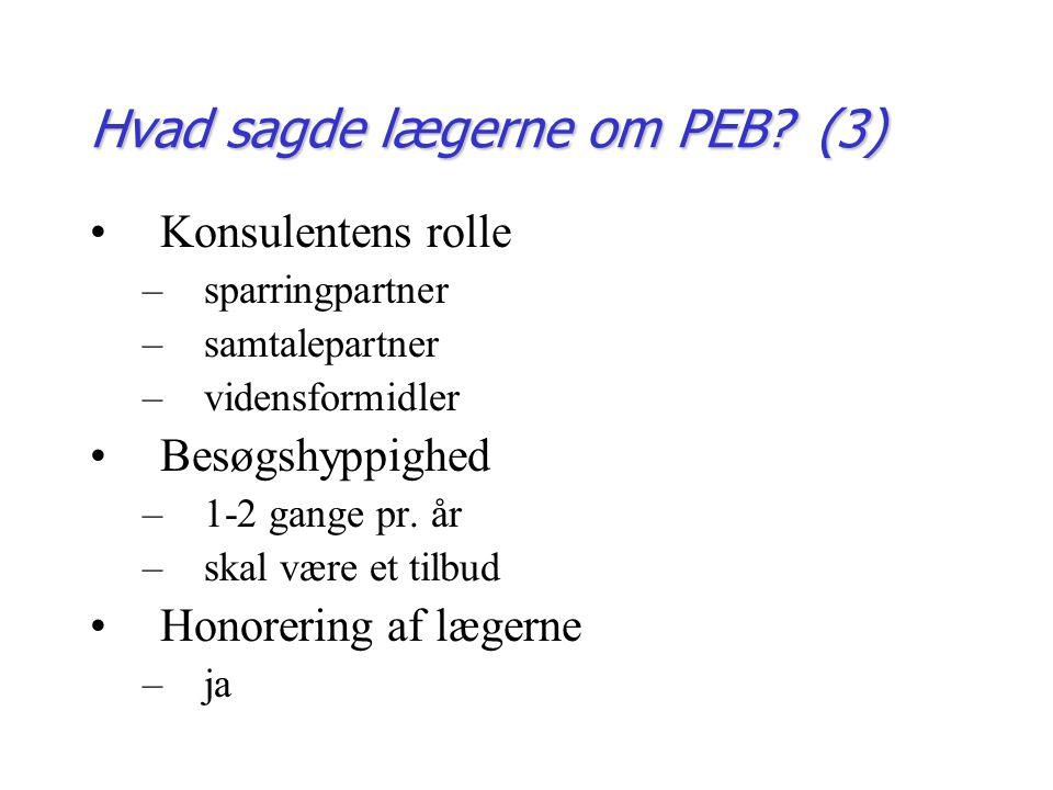 Hvad sagde lægerne om PEB.