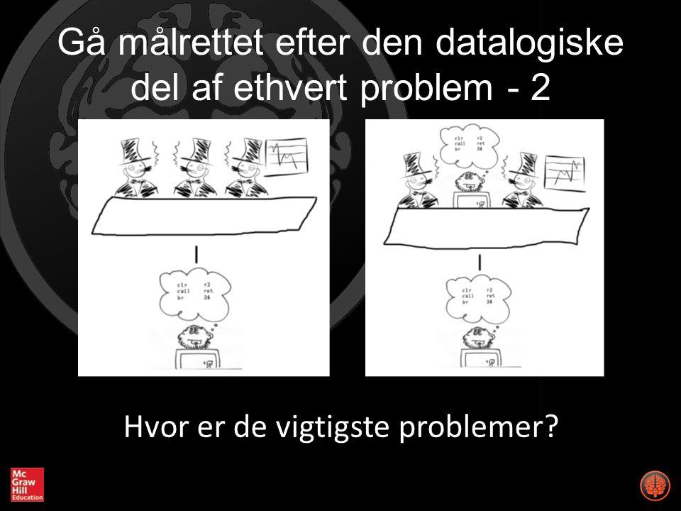 Gå målrettet efter den datalogiske del af ethvert problem - 2 Hvor er de vigtigste problemer