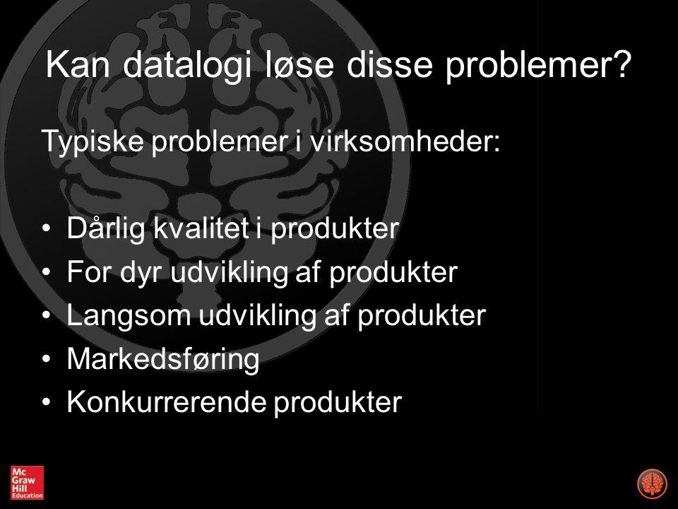 Kan datalogi løse disse problemer.