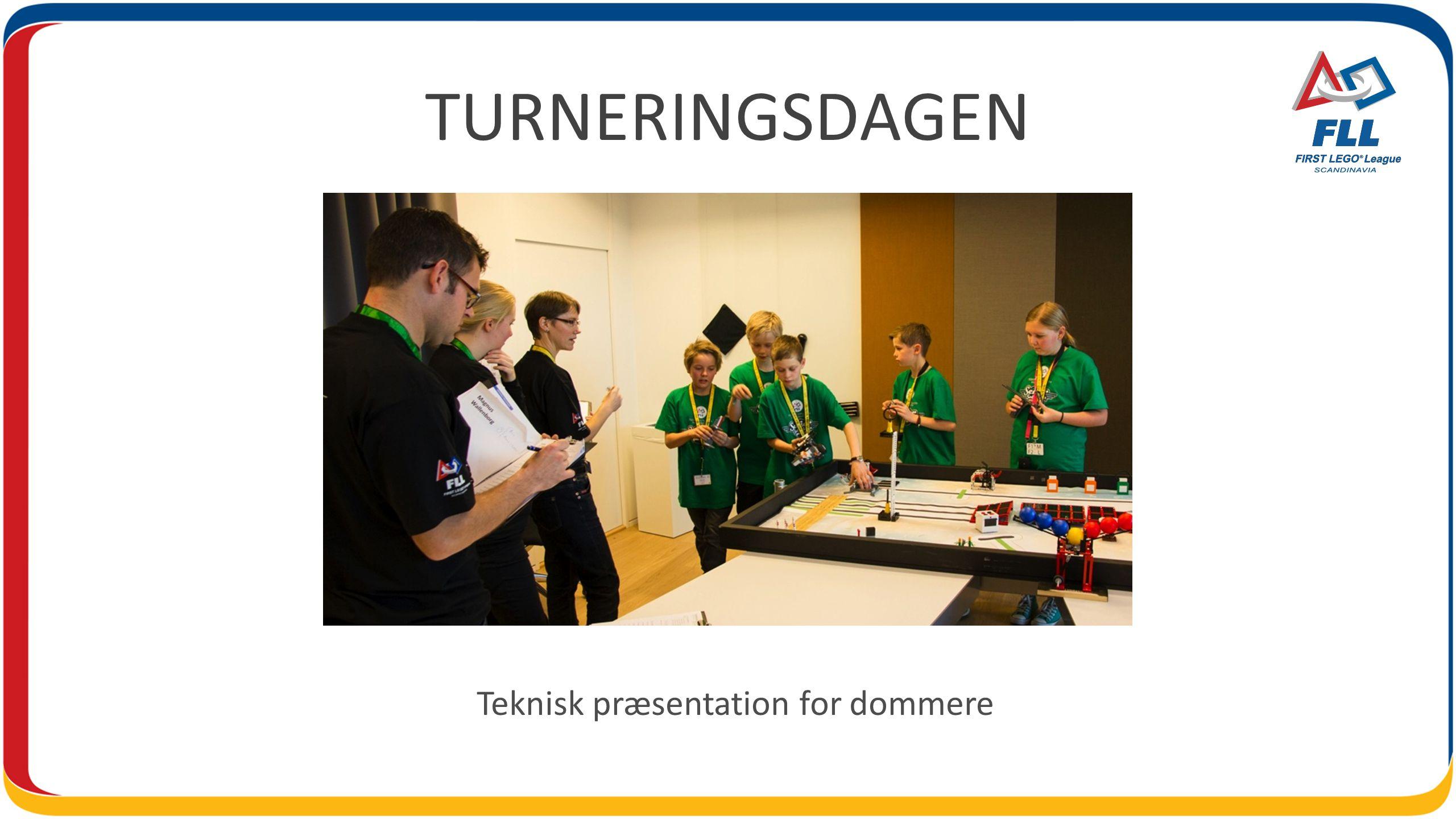 TURNERINGSDAGEN Teknisk præsentation for dommere