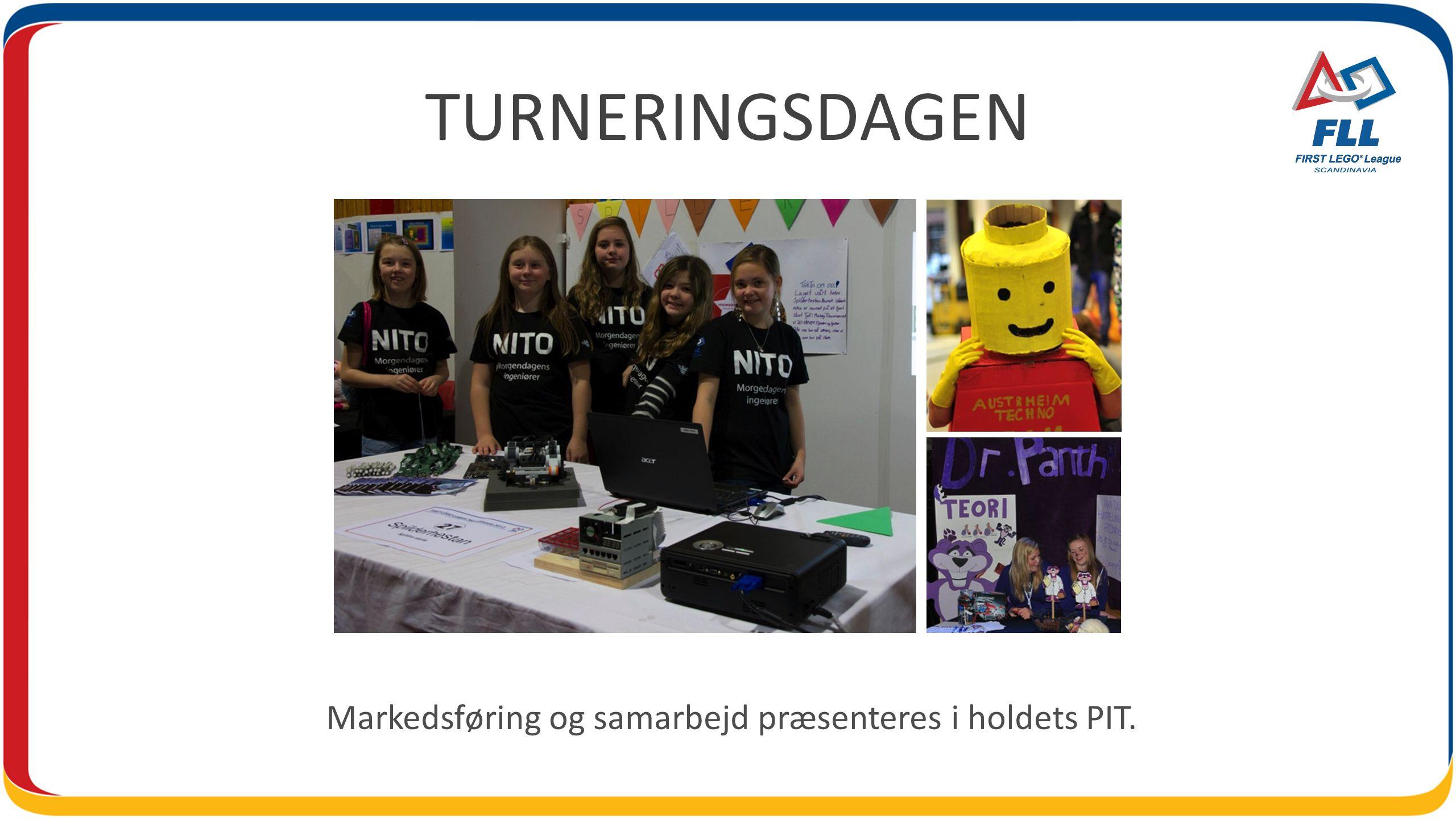 TURNERINGSDAGEN Markedsføring og samarbejd præsenteres i holdets PIT.