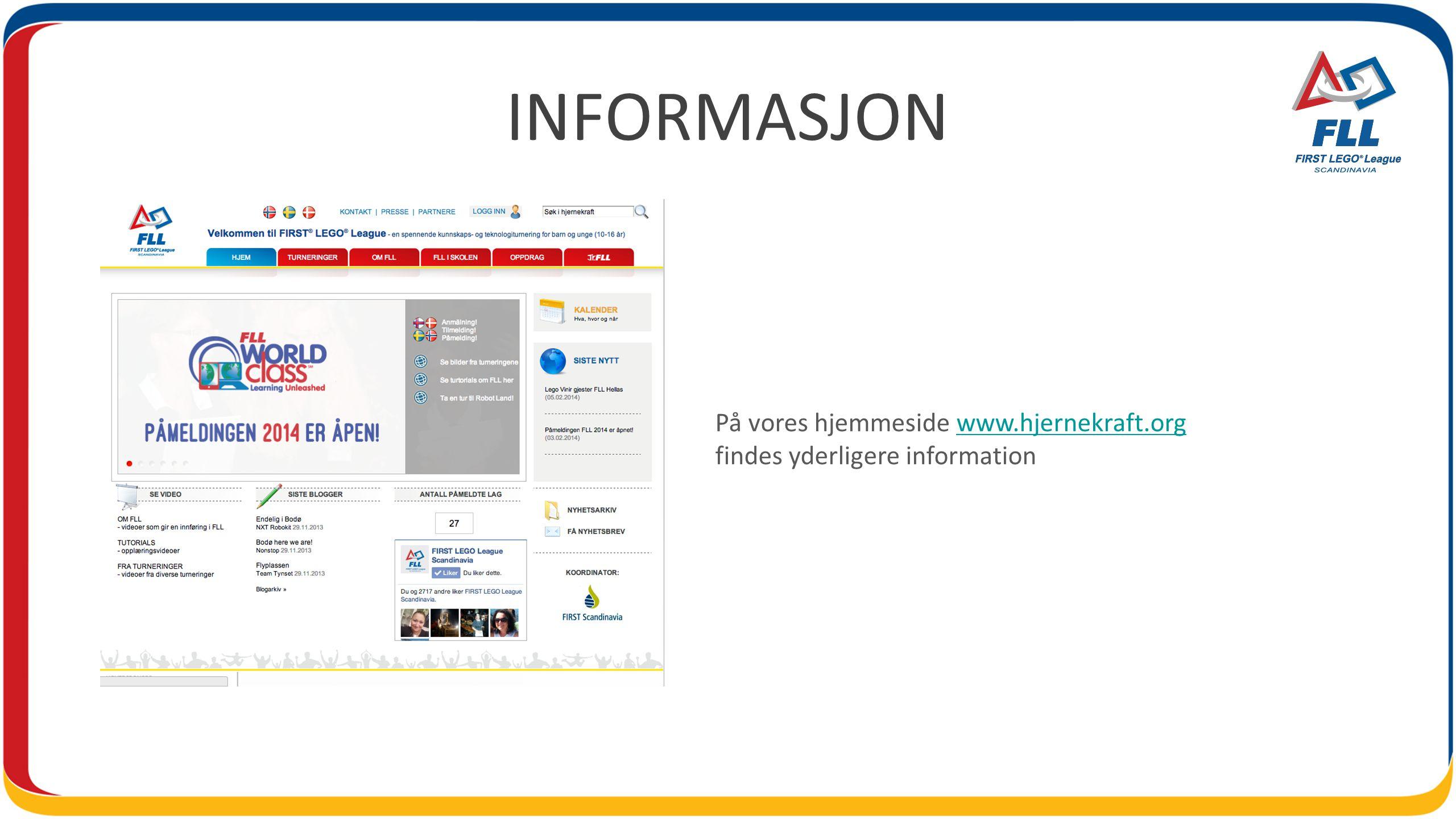 INFORMASJON På vores hjemmeside www.hjernekraft.orgwww.hjernekraft.org findes yderligere information
