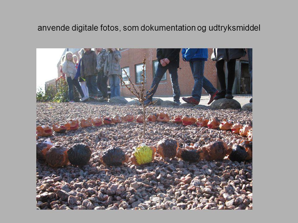 anvende digitale fotos, som dokumentation og udtryksmiddel