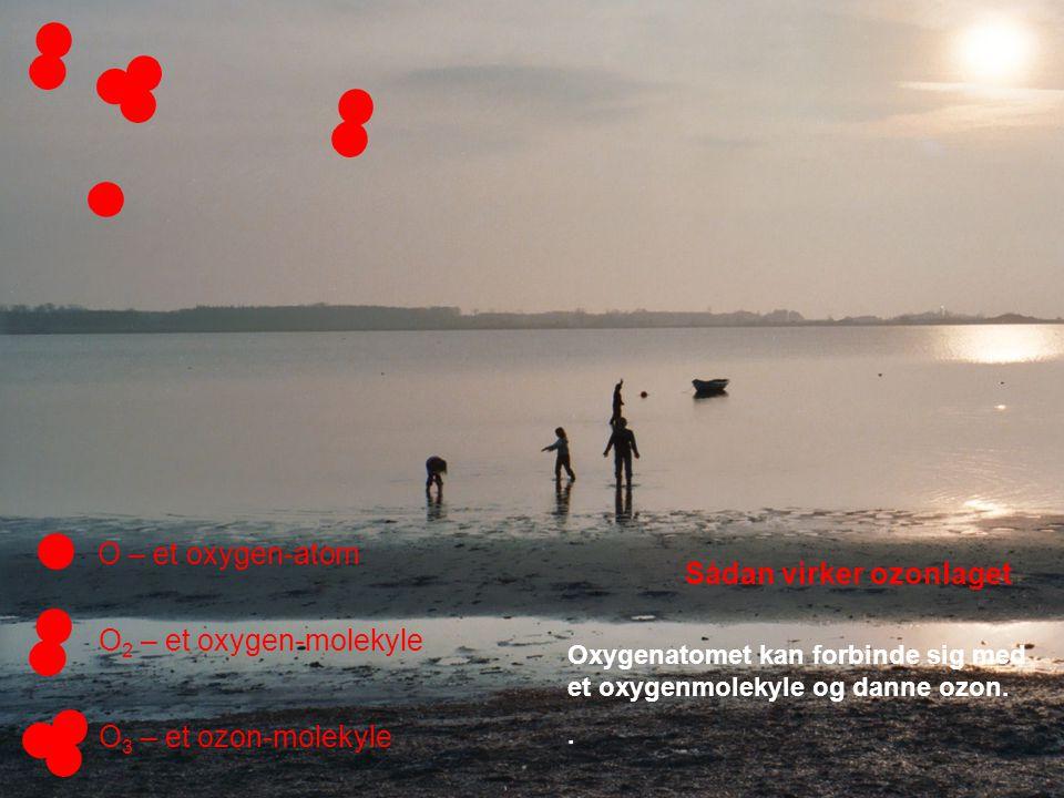 Oxygenatomet kan forbinde sig med et oxygenmolekyle og danne ozon..
