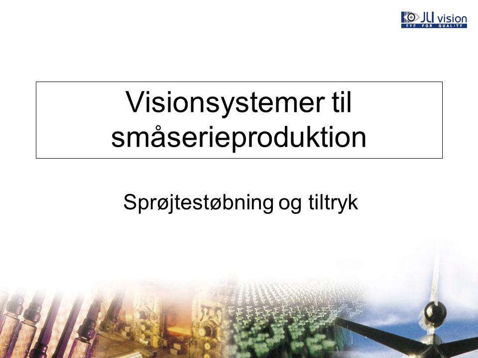 Visionsystemer til småserieproduktion Sprøjtestøbning og tiltryk