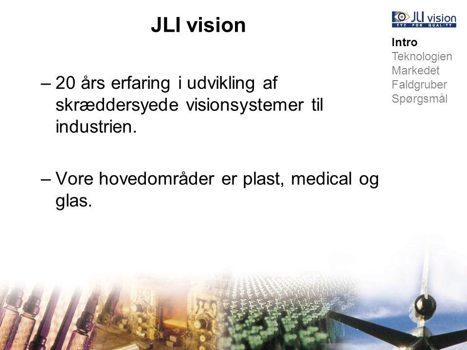 JLI vision –20 års erfaring i udvikling af skræddersyede visionsystemer til industrien.
