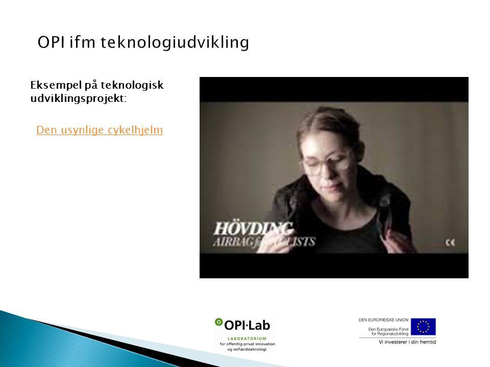 Eksempel på teknologisk udviklingsprojekt: Den usynlige cykelhjelm