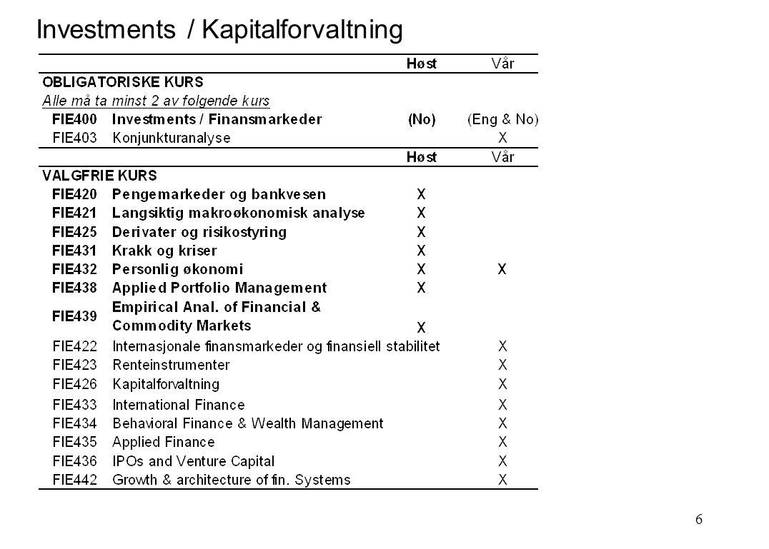 6 Investments / Kapitalforvaltning