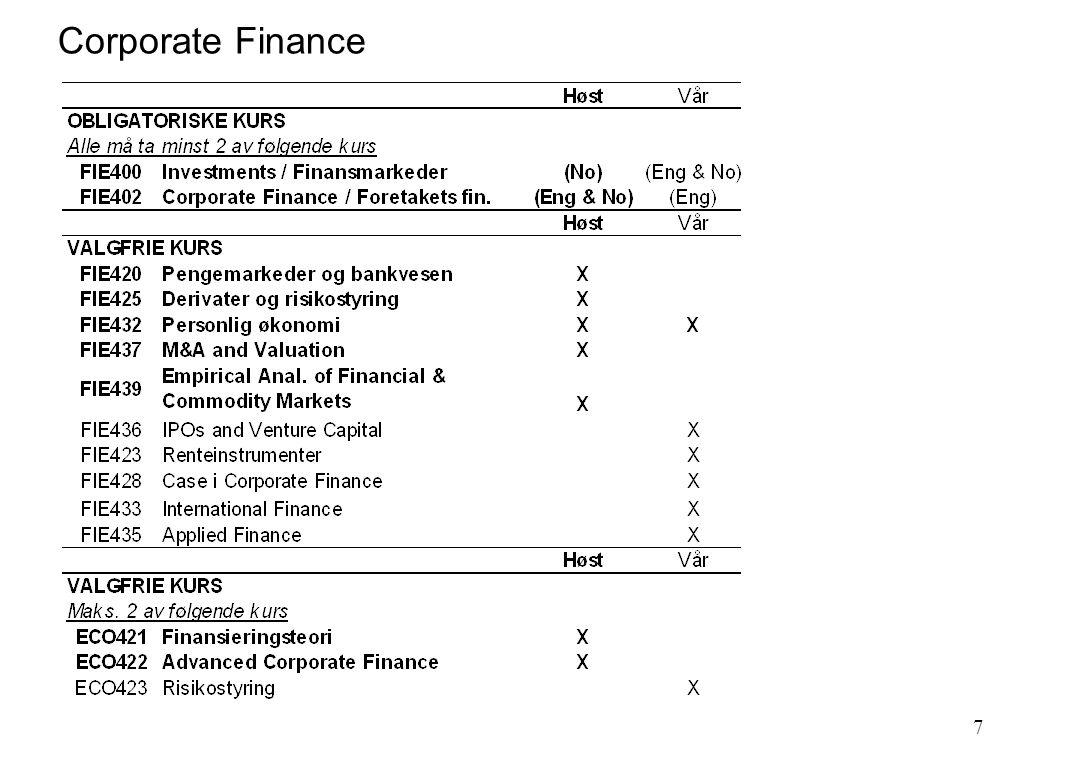 7 Corporate Finance