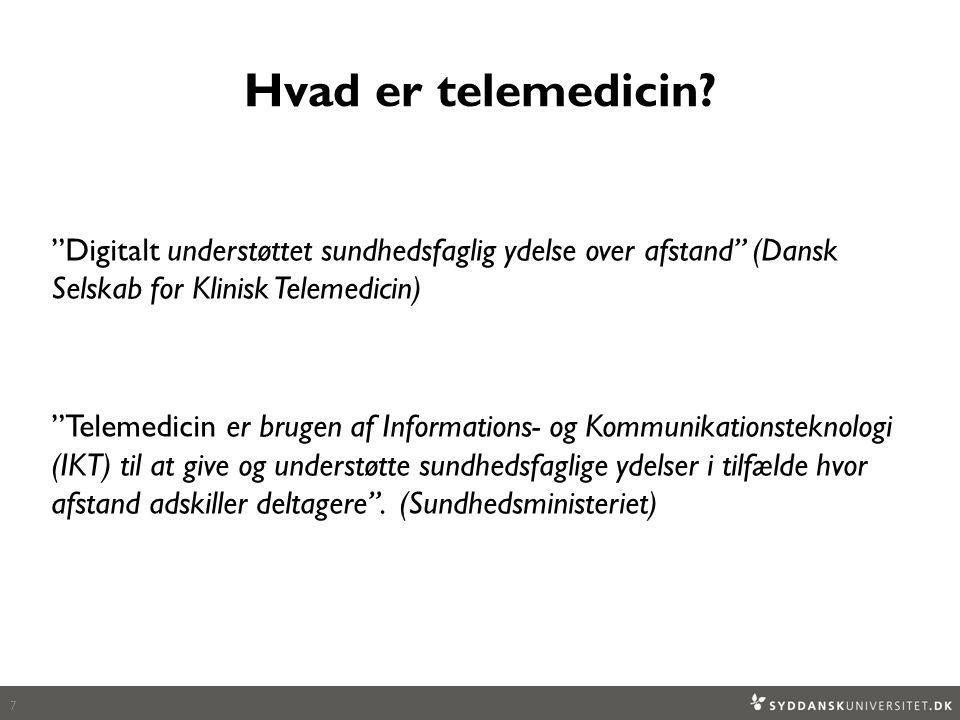Hvad er telemedicin.