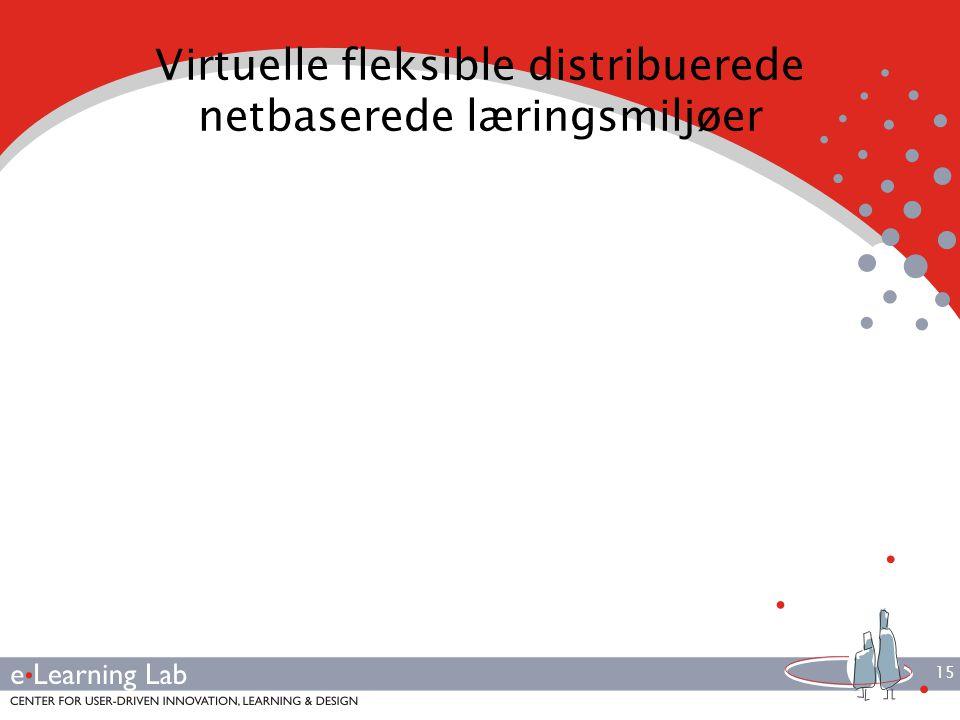 15 Virtuelle fleksible distribuerede netbaserede læringsmiljøer