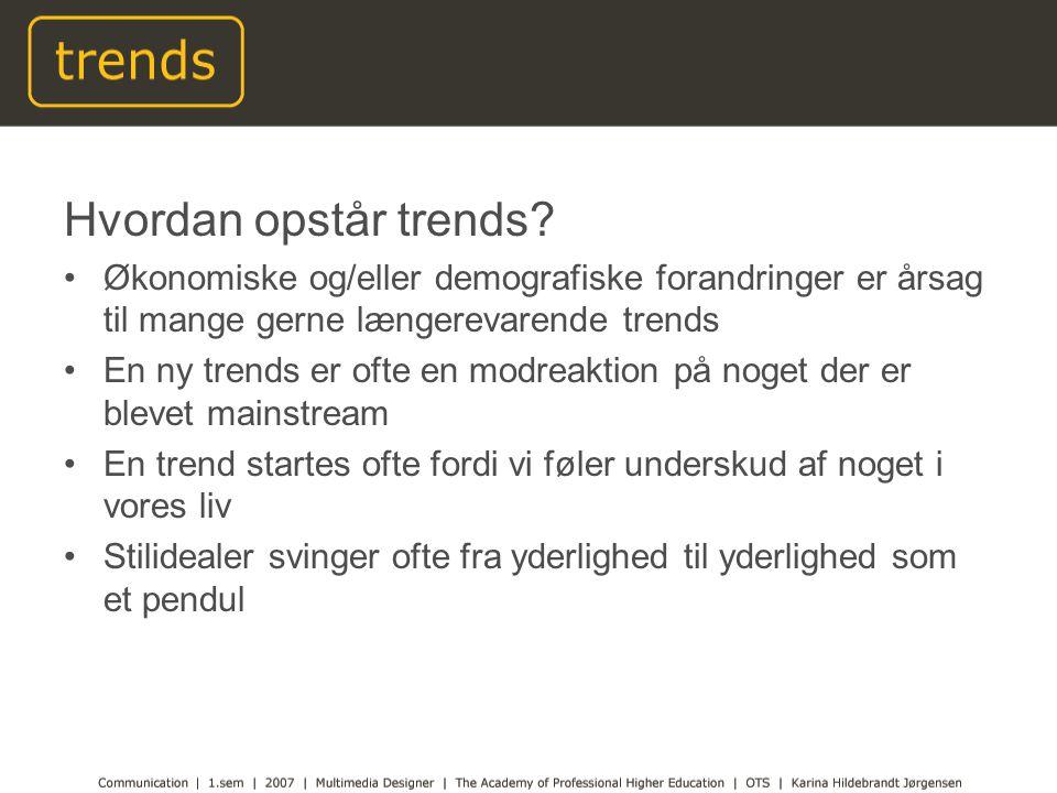 Hvordan opstår trends.