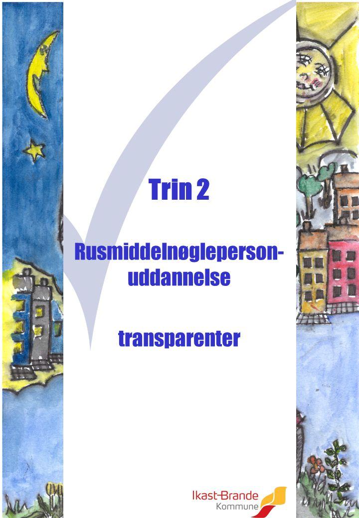 Rusmiddelnøgleperson- uddannelse transparenter Trin 2
