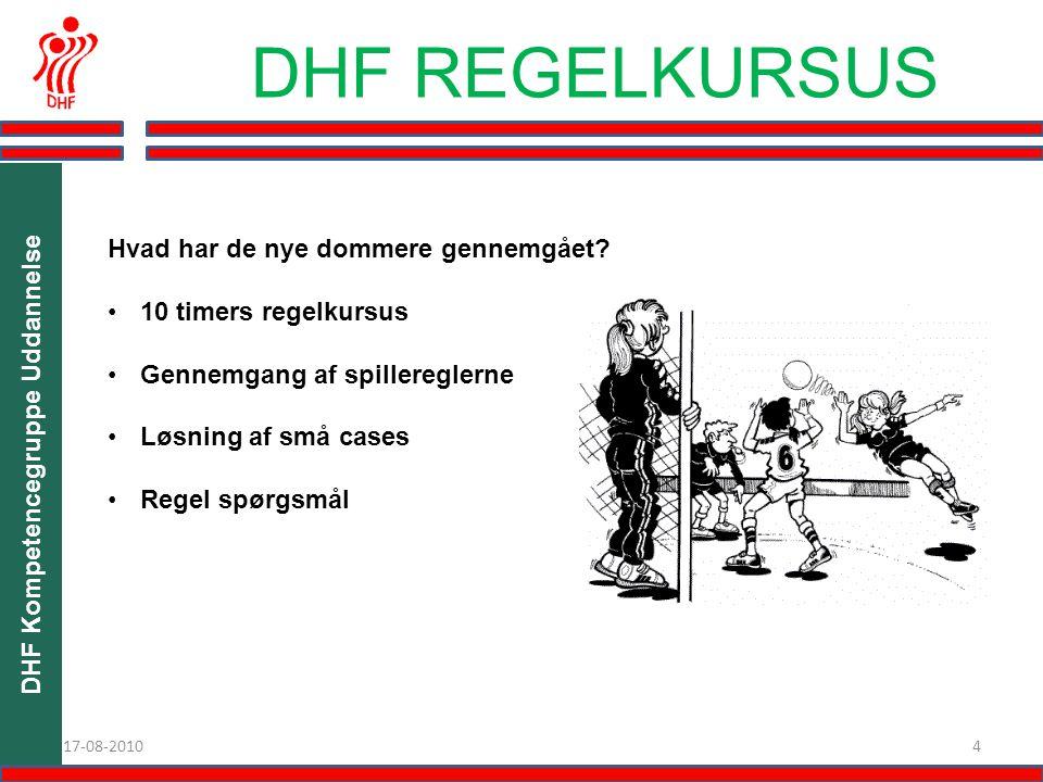 DHF Kompetencegruppe Uddannelse 417-08-2010 DHF REGELKURSUS Modul 2.4.
