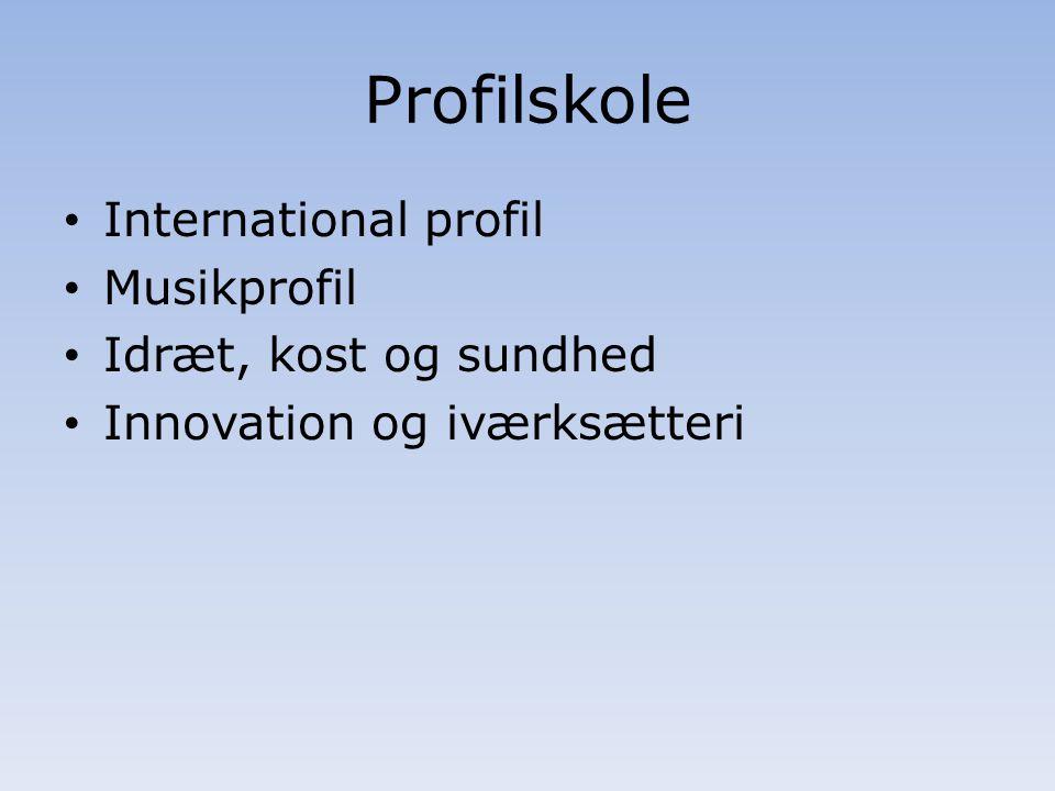 Profilskole International profil Musikprofil Idræt, kost og sundhed Innovation og iværksætteri