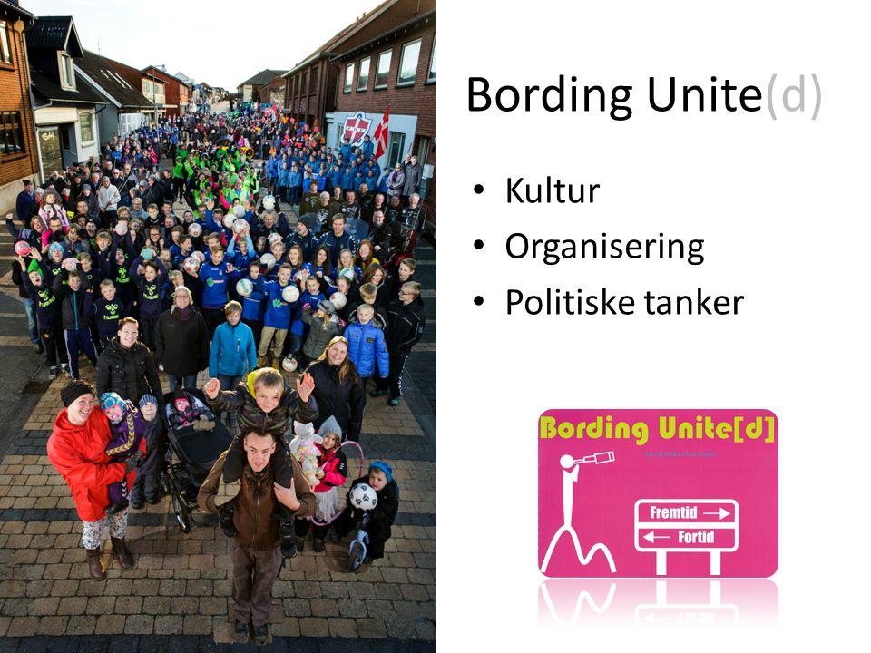 Bording Unite(d) Kultur Organisering Politiske tanker