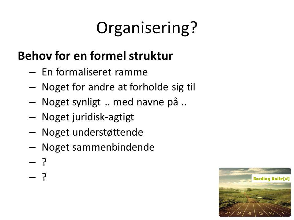 Organisering.