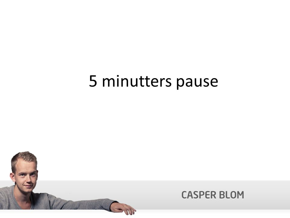 5 minutters pause