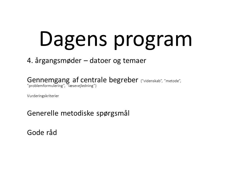 Dagens program 4.