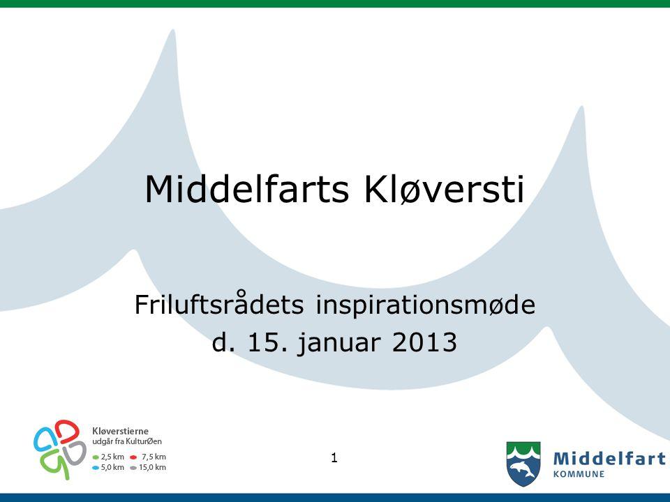 Middelfarts Kløversti Friluftsrådets inspirationsmøde d. 15. januar 2013 1