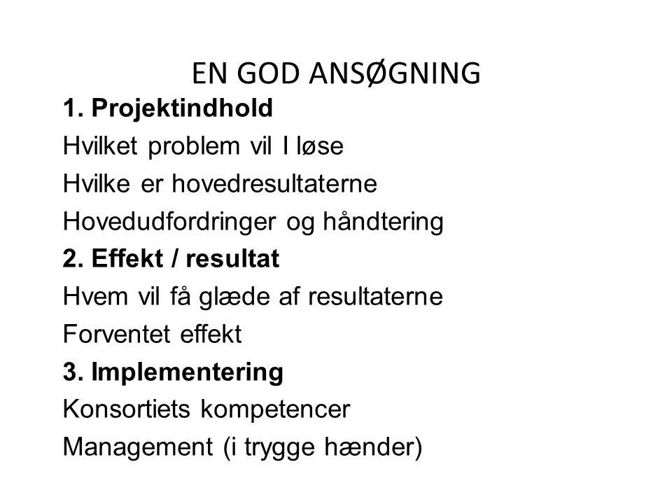 EN GOD ANSØGNING 1.