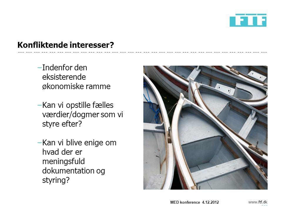 www.ftf.dk Konfliktende interesser.