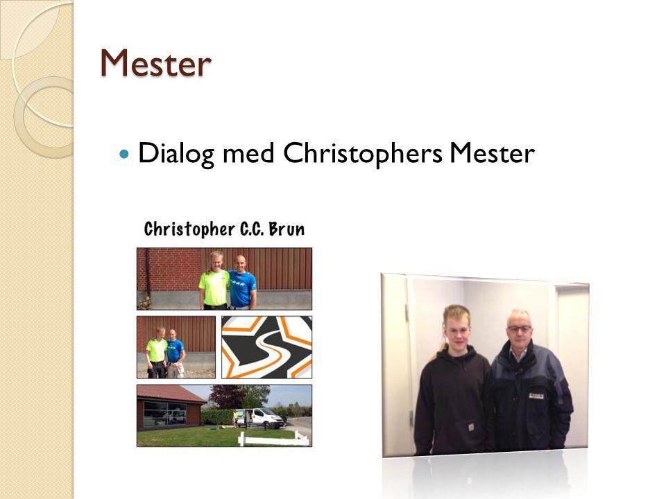 Dialog med Christophers Mester Mester