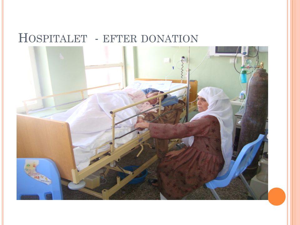H OSPITALET - EFTER DONATION