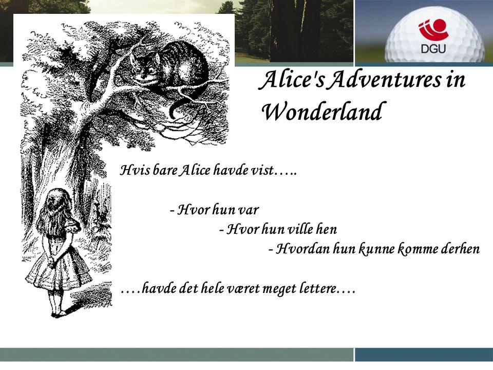 Alice s Adventures in Wonderland Hvis bare Alice havde vist…..