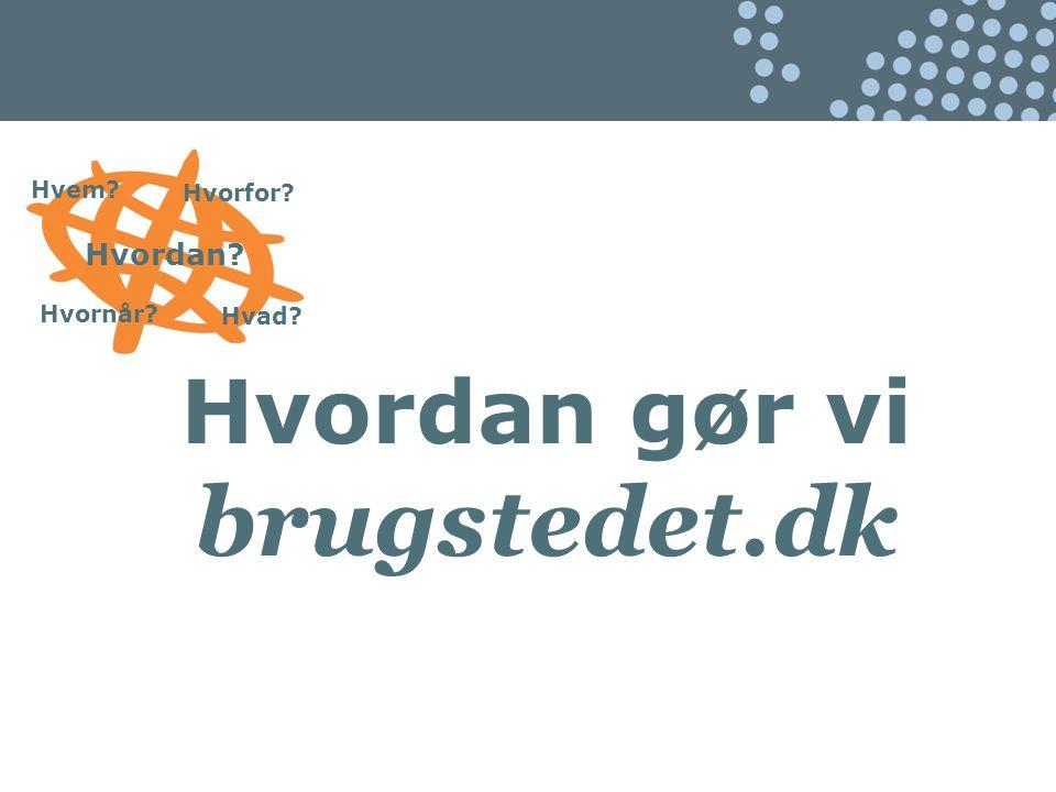Hvem Hvordan Hvad Hvorfor Hvornår Hvordan gør vi brugstedet.dk