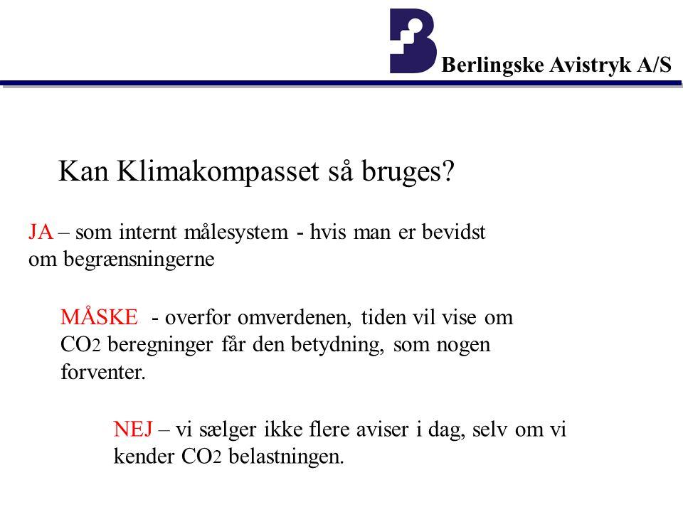 Berlingske Avistryk A/S Kan Klimakompasset så bruges.