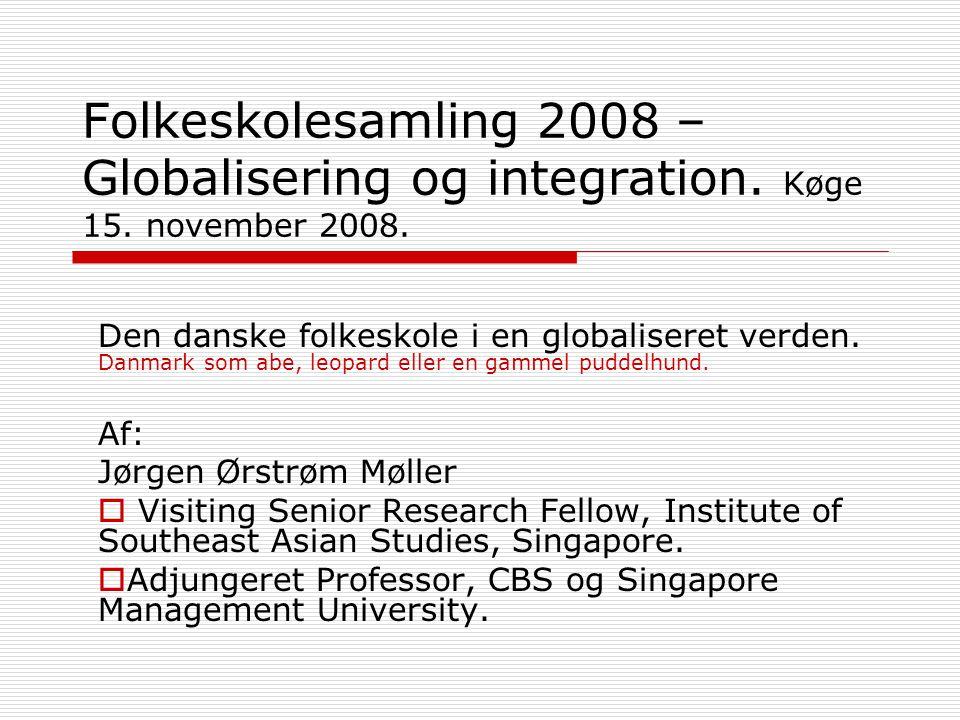 Folkeskolesamling 2008 – Globalisering og integration.