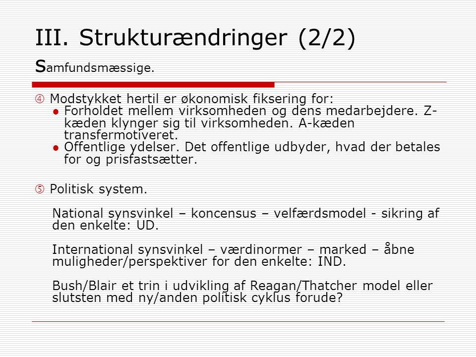 III. Strukturændringer (2/2) s amfundsmæssige.