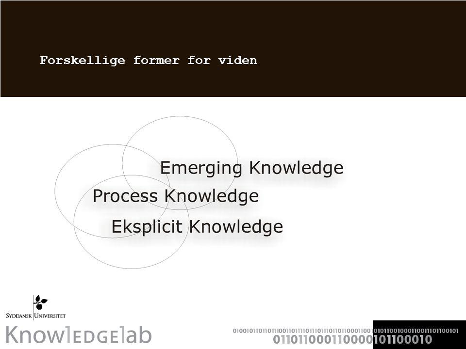 Forskellige former for viden