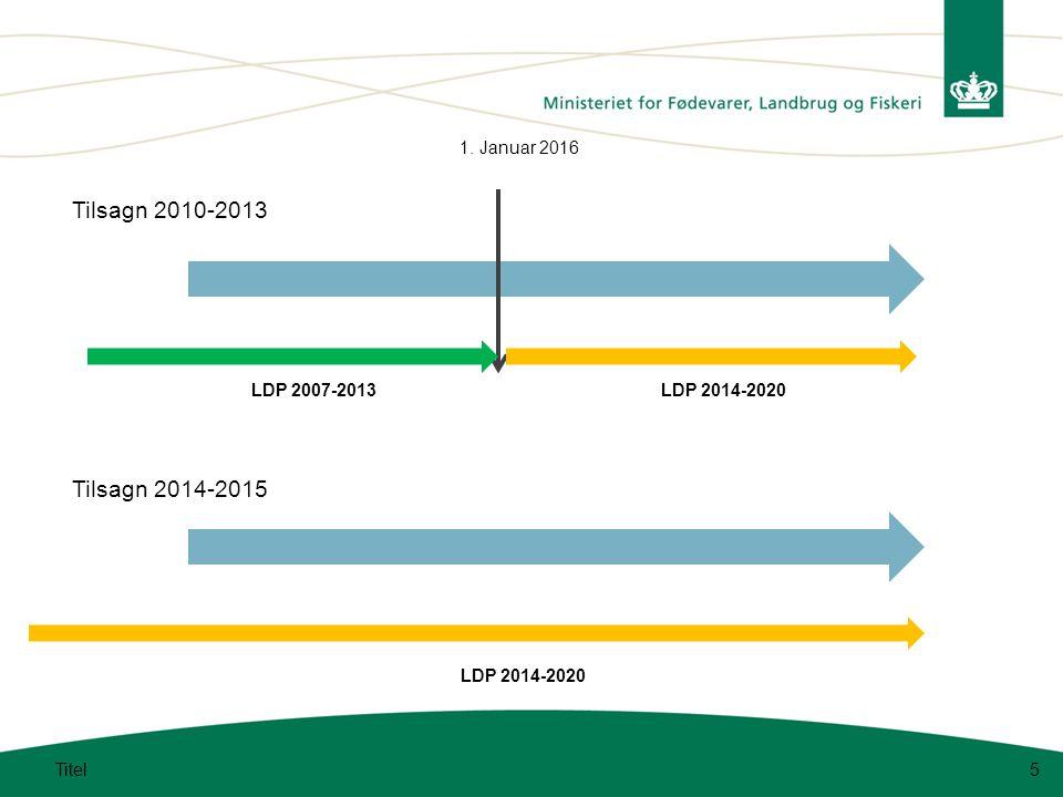 5 Tilsagn 2010-2013 1. Januar 2016 LDP 2007-2013LDP 2014-2020 Tilsagn 2014-2015 LDP 2014-2020