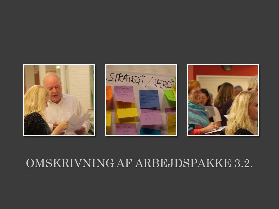 OMSKRIVNING AF ARBEJDSPAKKE 3.2. -
