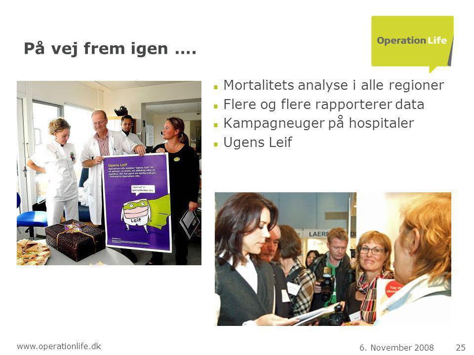6. November 200825 www.operationlife.dk På vej frem igen ….