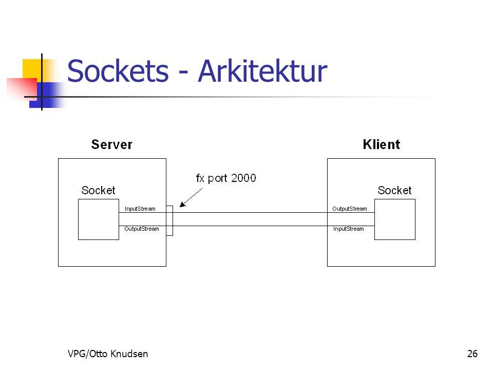 VPG/Otto Knudsen26 Sockets - Arkitektur