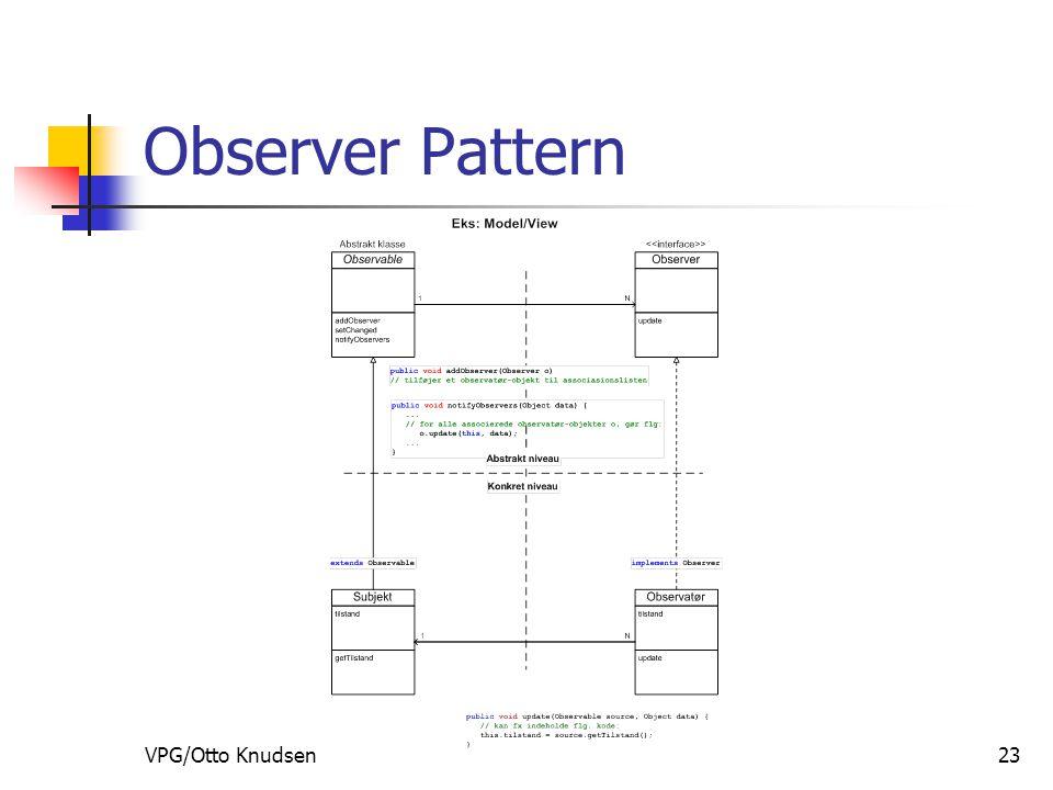 VPG/Otto Knudsen23 Observer Pattern