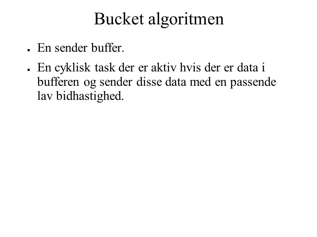 Bucket algoritmen ● En sender buffer.