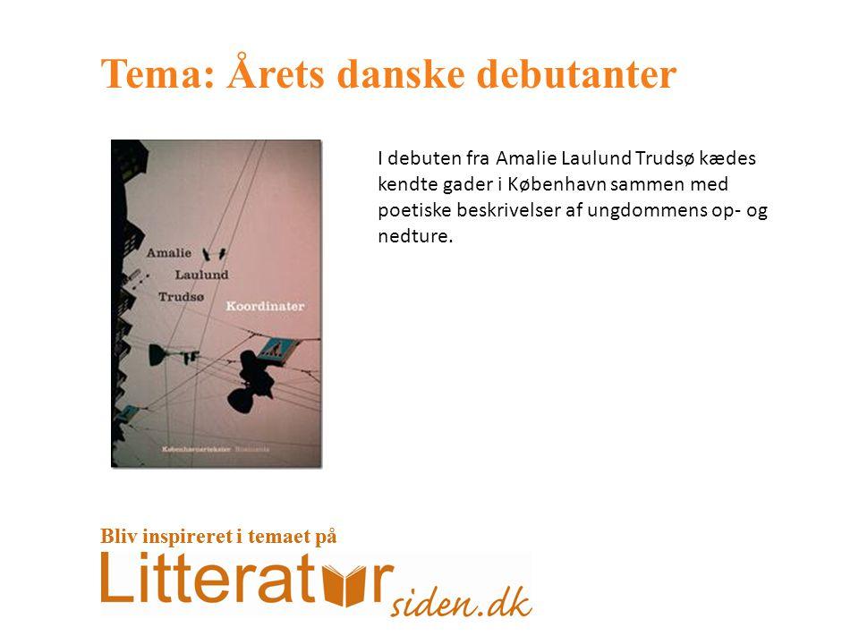 Tema: Årets danske debutanter I debuten fra Amalie Laulund Trudsø kædes kendte gader i København sammen med poetiske beskrivelser af ungdommens op- og nedture.