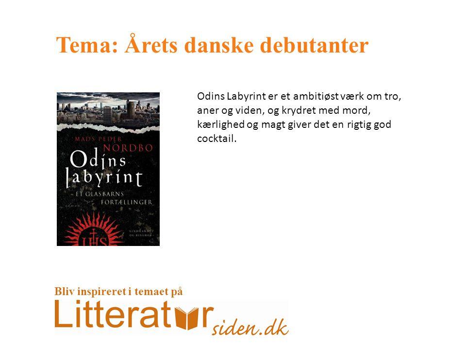 Tema: Årets danske debutanter Odins Labyrint er et ambitiøst værk om tro, aner og viden, og krydret med mord, kærlighed og magt giver det en rigtig god cocktail.