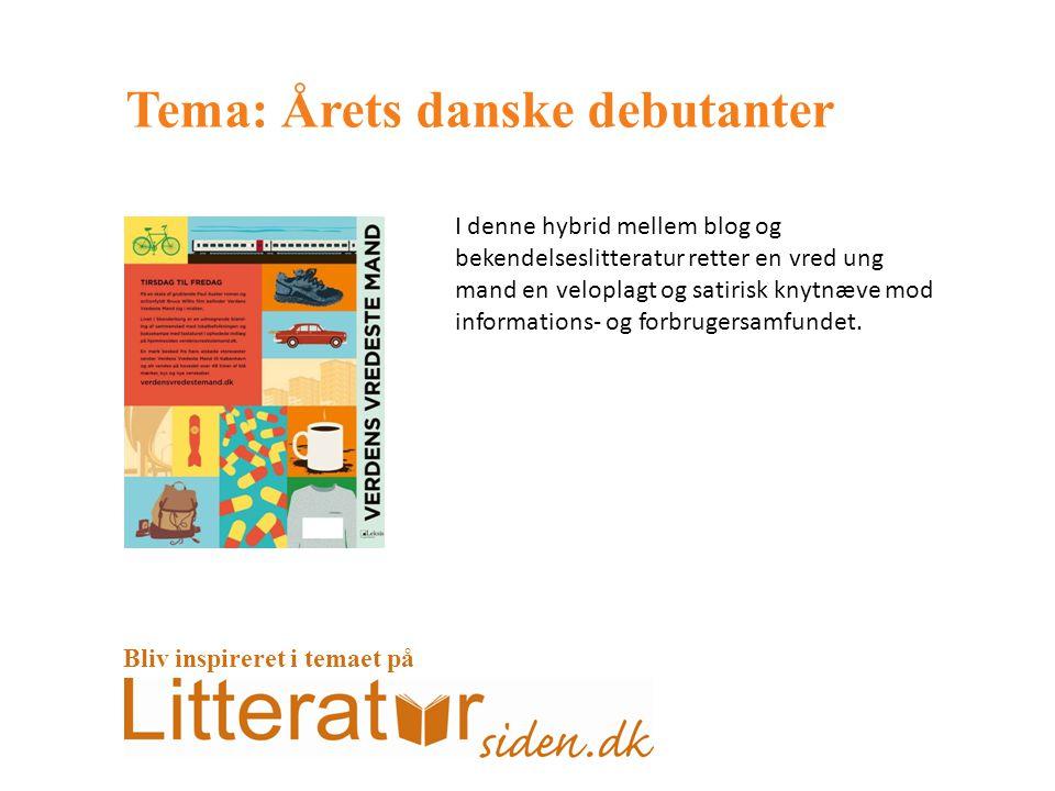 Tema: Årets danske debutanter I denne hybrid mellem blog og bekendelseslitteratur retter en vred ung mand en veloplagt og satirisk knytnæve mod informations- og forbrugersamfundet.