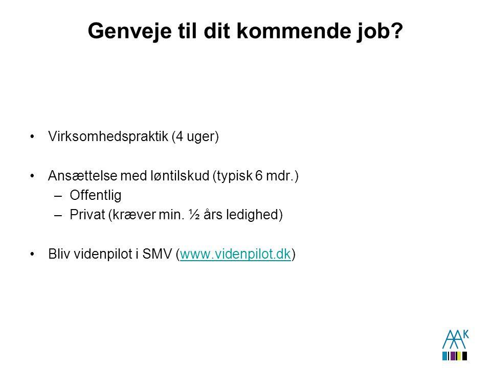 Genveje til dit kommende job.