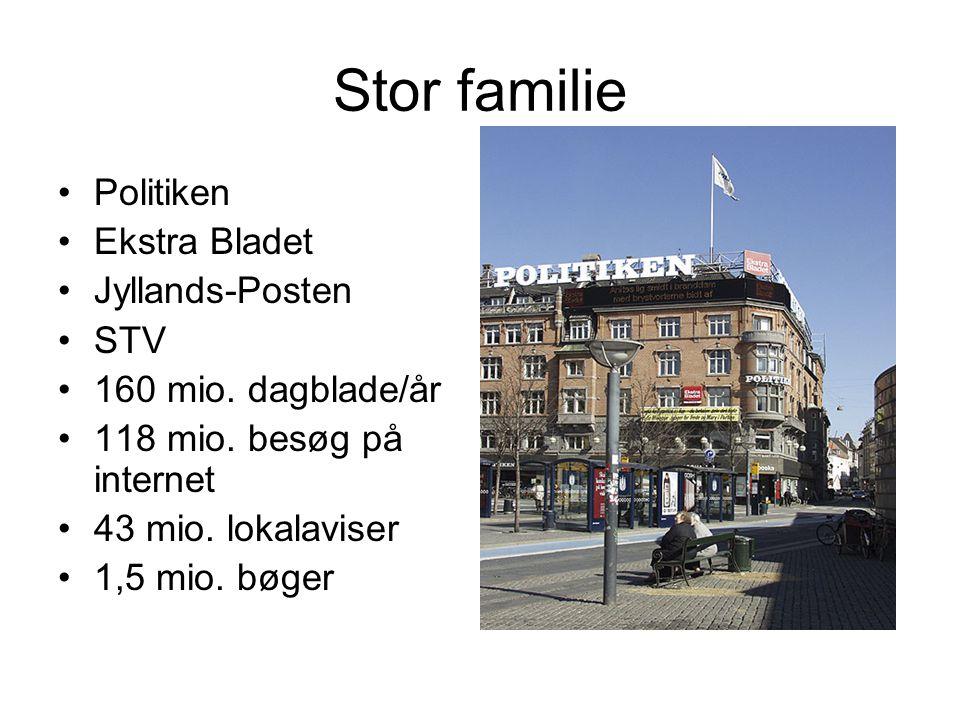 Stor familie Politiken Ekstra Bladet Jyllands-Posten STV 160 mio.