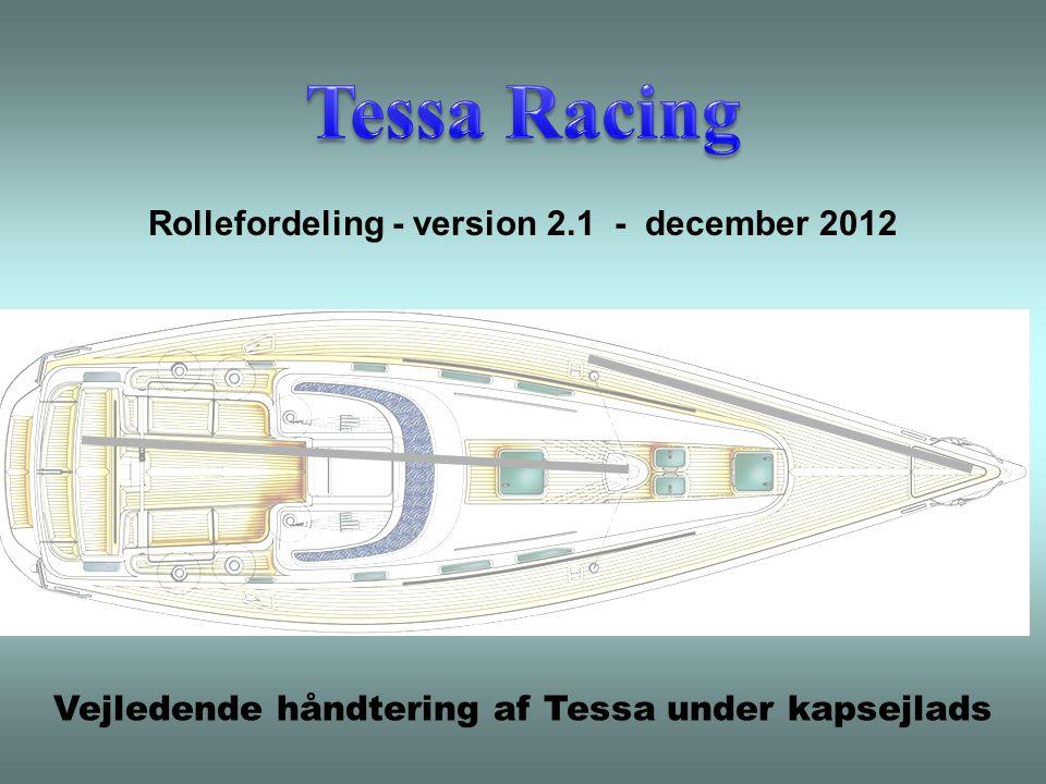 Vejledende håndtering af Tessa under kapsejlads Rollefordeling - version 2.1 - december 2012