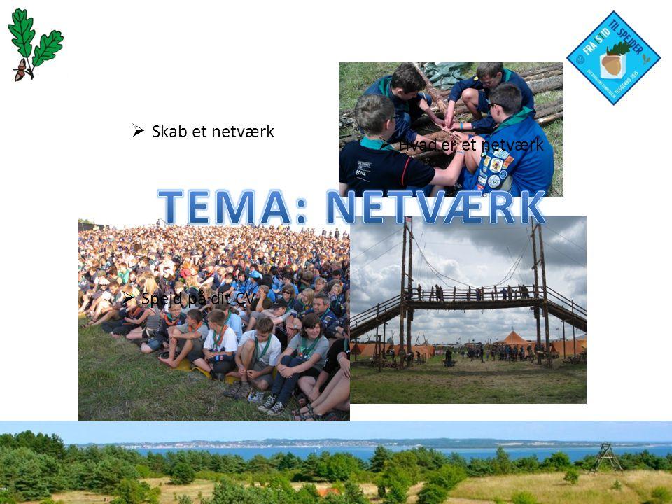  Hvad er et netværk  Spejd på dit CV  Skab et netværk