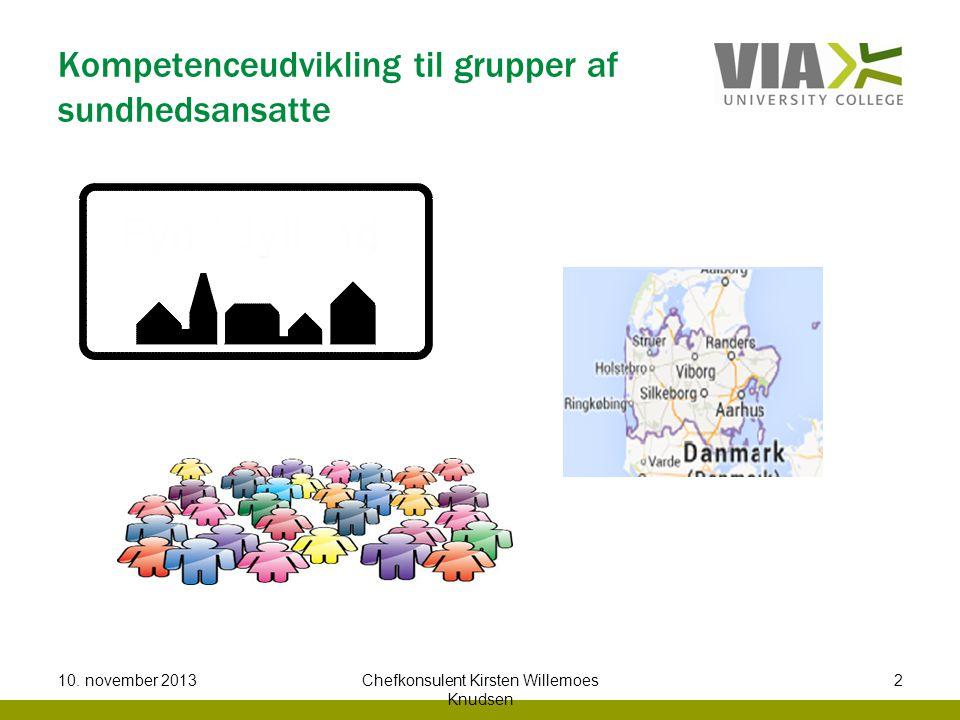 Kompetenceudvikling til grupper af sundhedsansatte 10.