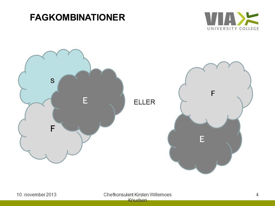 S F E ELLER E F FAGKOMBINATIONER 10. november 2013Chefkonsulent Kirsten Willemoes Knudsen 4