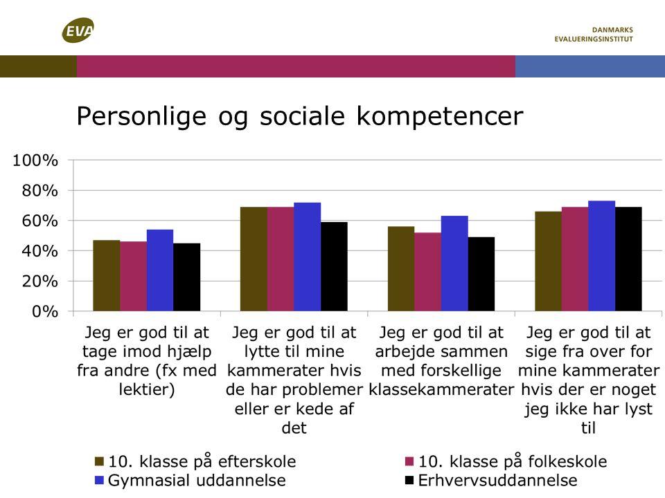 Personlige og sociale kompetencer
